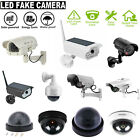 Solar Waterproof Outdoor Home Camera Simulation Dummy Security Fake CCTV Cam Lot