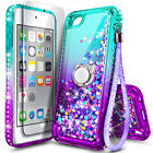 For iPod Touch 5th 6th 7th Gen Case Liquid Glitter Bling Cover Screen Protector