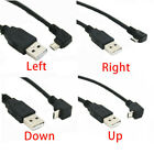 90 Degree Angle Usb 2.0 A Male To Left Right Micro Usb Cable For Phone Samsung*1