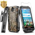 For Kyocera Duraforce Pro 2 E6900 Case Holster Clip Phone Cover + Tempered Glass