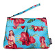 Liquorbrand Hula Girl Pouch Bag Purse Retro 50s 60s Rockabilly Vintage Pin Up photo