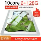 10 inch Tablet PC 6 128G Android 8.0 OS Pad Dual SIM Camera GPS Wi-Fi Phablet