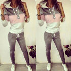Womens Hoodie Jogging Tracksuit Sports Solid Sweat Suit Casual Lounge Outfits
