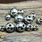 4/5/6/8/10/12mm Stainless Steel Round Silver Loose Metal Beads Wholesale lots