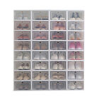 12Pcs Foldable Plastic Transparent Shoe Box Storage Clear Stackable Organizer