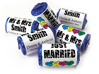 Personalised Mini Love Heart Sweets for Weddings favours, Black Foils - Original