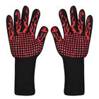 BBQ Grilling Gloves Heat Resistant Silicone Kitchen Oven Mitts Cooking Baking