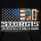2020 Sturgis Long Sleeve T Shirt American Flag Black Hills Rally Motorcycle  image