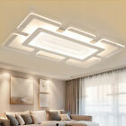 Rectangular Acrylic Modern LED Ceiling Light Living Room Bedroom Chandelier