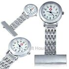 Stainless Steel Metal Nurse Watch Brooch Tunic Fob Doctor watch FREE BATTERY