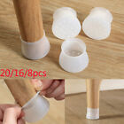 20pcs Table Chair Leg Silicone Cap Pad Furniture Table Feet Cover Protector USA