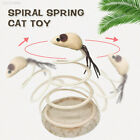 F079 Small Fish Spring Cat Toy Elastic Spring Mouse Bottom Sucker Gift Durable