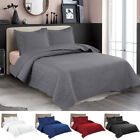 Embossed Reversible Bedspread Coverlet Quilt Set Bedding Cover Twin Queen King image