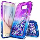 For Samsung Galaxy S6 S7 Edge Active Case Liquid Glitter Cover +Screen Protector
