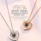 I LOVE YOU in 100 language Necklace Romantic gifts for mom wife girlfriend girls
