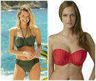 Bravissimo PANACHE MARINA BIKINI TOP OR BRIEFS IN KHAKI, RED OR COBALT (AA-39).