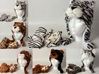 Animal Hat With Matching Paw Mittens 6 Varieties NEW Child Size 4-7 Years