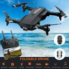 WiFi FPV Drone 4K FHD Dual Camera Live Video RC Foldable Quadcopter Wide Angle