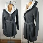 Ex Avon Ladies Dressing Gown Fluffy Hooded Robe Size 6 - 24