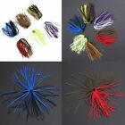 Bundles 50 Strands Silicone Skirts Fishing Rubber Jig Lure Mixed Colors W/ New