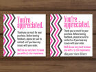Thank you for your purchase chevron pink gray white business cards personalized