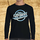 THE STROKES Rock Band Logo Long Sleeve Black T-Shirt Size S to 3XL image