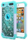 For iPod Touch 5th 6th 7th Gen Case Bling Soft Rubber Diamond Shockproof Cover