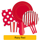 Solid Colour Plastic Plates - Disposable Tableware Party Supplies