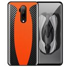 McLaren Style Luxury Carbon Fiber Genuine Leather Oneplus Sports Car Case Cover