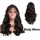 Deep Water Wave Remy Brazilian Human Hair Wigs Black Glueless Lace Front Wig New
