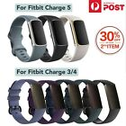 Replacement Band For Fitbit Charge 3/4 Band Soft Silicone Band Strap Watch Wrist