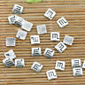 40pcs tibetan silver color specail sign note finding EF2401