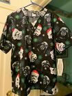 Christmas Cherokee Tooniforms Merry Sithmas Star Wars SCRUB TOP SIZES: L, XL, 2X $25.85 USD on eBay