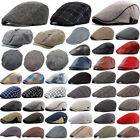 Men Women Newsboy Gatsby Cap Ivy Hat Cabbie Golf Driving Flat Beret Warmer Hats