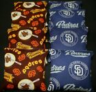 NEW/RARE San Diego Padres CORNHOLE BEAN BAGS 8 ACA Reg. made w SD MLB Fabric on Ebay