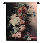 Bouquet de Fleur Imported Floral Still Life Woven Tapestry Wall Hanging NEW