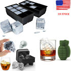 8 Big Cube/Skull / Jumbo Silicone Square Cube Ice Mould Tray Mold