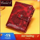 Contact's Small Women Wallet Genuine Leather Female Wallets Red Luxury Short image