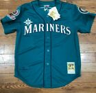Authentic Mitchell and Ness seattle Mariners ken griffey jr navy blue jersey on Ebay
