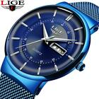 2019 LIGE New Mens Watches Top Brand Dial Male Fashion Waterproof Quartz G