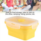 Silicone Folding Bento Lunch Box Collapsible Portable Food Storage Container