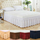 Elastic Bed Skirt Dust Ruffle Easy Fit Wrap Around Twin Full Queen King Size US image