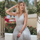 Ever-Pretty US Plus Size V-neck Bridesmaid Dresses Mesh Long Wrap Celebrity Gown
