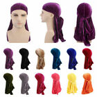 Breathable Women Men Bandana Turban Cap Velvet Hat Durag Headwear Unisex