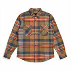 """Brixton """"Bowery"""" Long Sleeve Flannel (Sage) Men's Button Up Shirt"""
