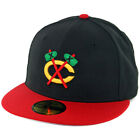 New Era 5950 Chicago Blackhawks Alternate Tomahawk Fitted Hat BK SRD Cap
