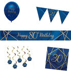 NAVY & GOLD GEODE 50th Birthday Party Range - Tableware Balloons & Decorations