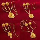 South Indian Women Necklace Earrings Traditional Pendant Drop Dangle Jewelry