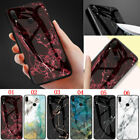 Marble Tempered Glass Back Case Cover For Xiaomi Redmi Note 8T Note 8 8 8A 7A 6A