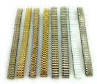12mm Silver Gold White Stainless Stretch Expansion Watch Band Ladies LST3 image